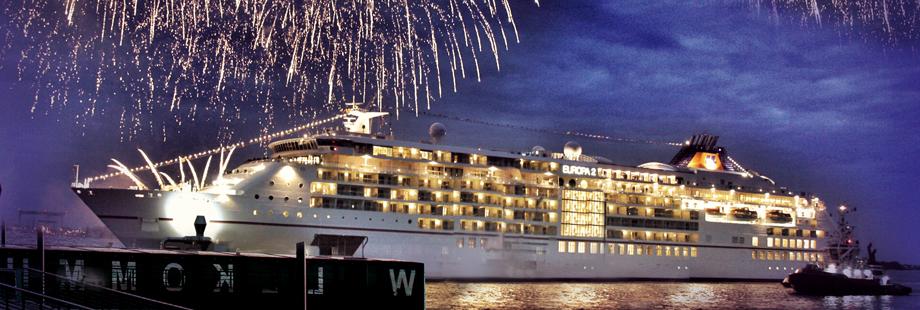 Feuerwerk an der Elbe